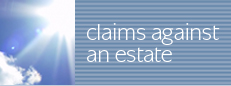 claims against an estate
